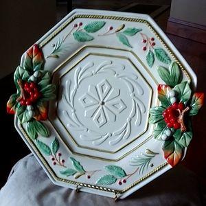 Fab Fitz & Floyd Winter Wonderland plate platter